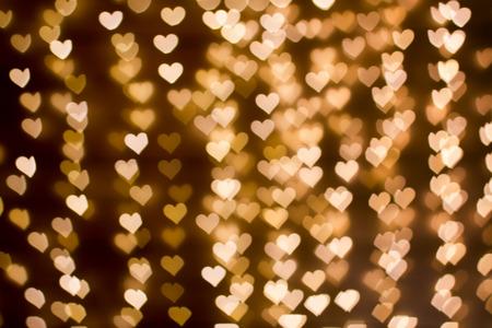 blurring: Blurring lights bokeh background of hearts