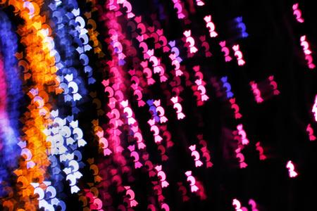 blurring: Blurring lights bokeh background of candies