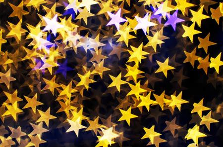 blurring: Blurring lights bokeh background of stars