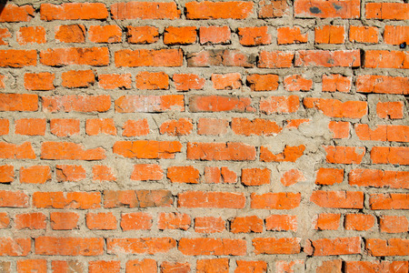 untidiness: Red brick wall Stock Photo