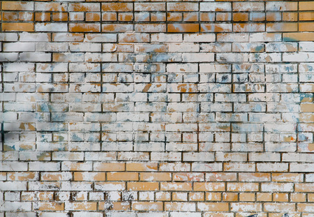 untidiness: Background of old brick wall Stock Photo