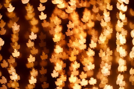 blurring: Blurring lights bokeh background of golden leaves