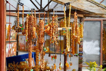 bazaar: Amber necklaces and souvenirs at the bazaar