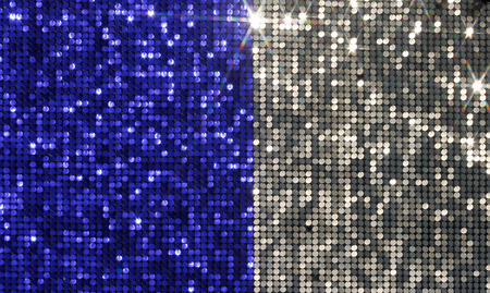 flashlights: Silver and blue background mosaic with light spots and stars