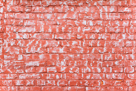 plies: Grunge red-white brick wall as background, texture Stock Photo