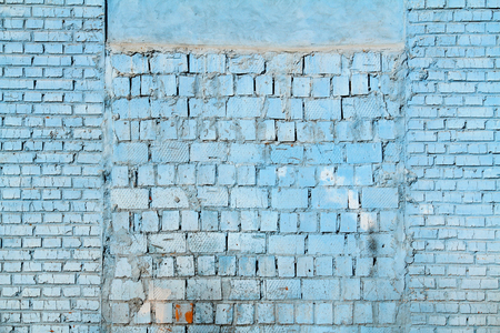 plies: Grunge blue brick wall as background, texture