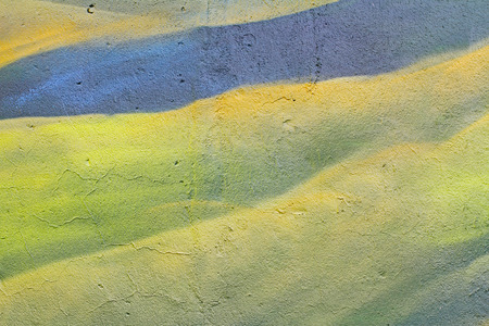Abstract green wall with cracks as background, texture