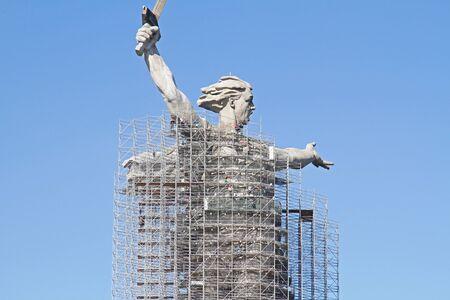 Volgograd, Russia - October 02, 2019: Reconstruction of the sculpture