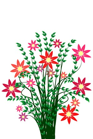 Bunch of flowers isolated on white background Stock Vector - 6911220