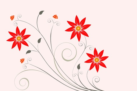 Abstract floral background for your design Illustration