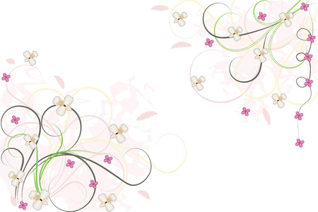 Abstract floral background isolated on white