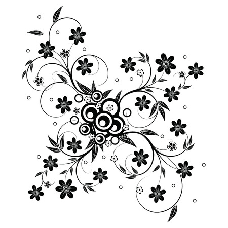 Floral  element for design isolated on white