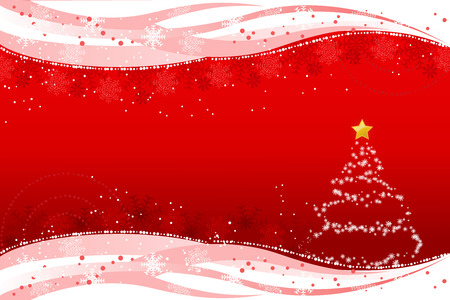 Abstract christmas background with snowflake and christmas tree
