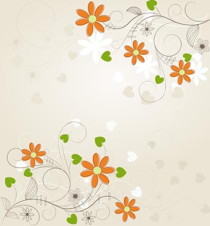 Floral background, for your design Illustration