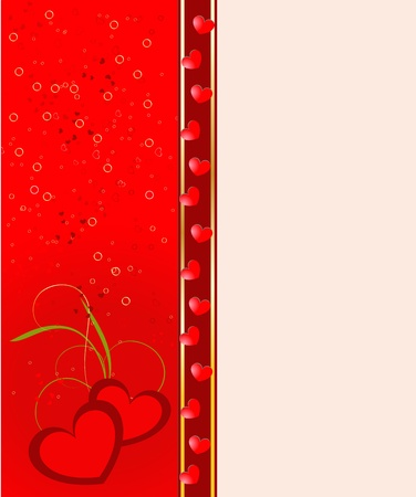 Abstrackt Valentine background with a floral and hearts