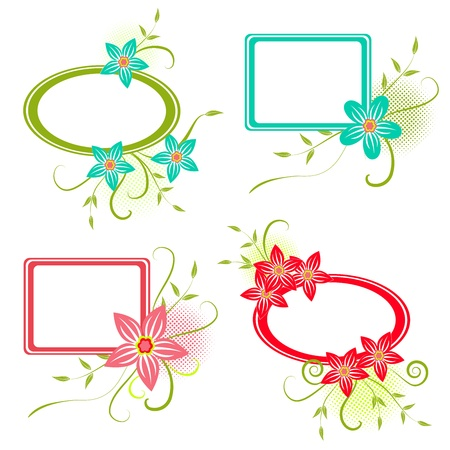 Four colorful  frame for your design, illustration Vector