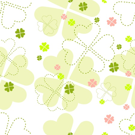Beautiful seamless background with colored abstract flowers for your design Illustration