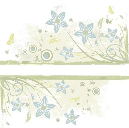 fondos colores pastel: Fondo del grunge abstracto con las flores, de desplazamiento y de la hoja,