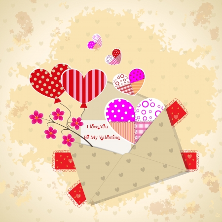 Romantic Valentine greeting card or invitation for you