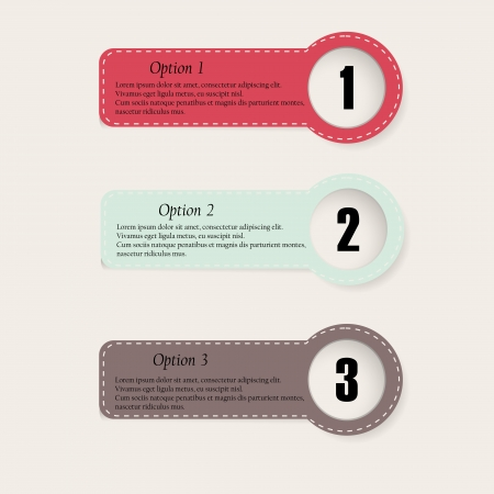 Set of colourful info graphics options banner