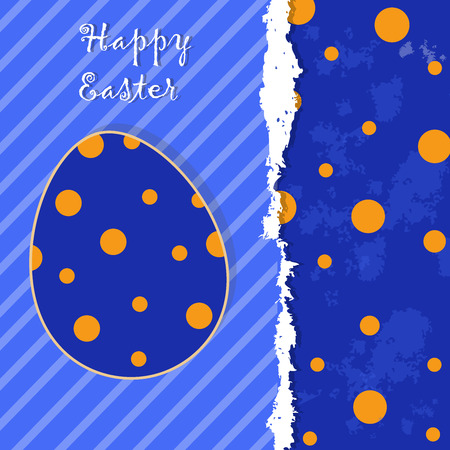 Greeting template with spotted egg and grunge for your greeting card, invite or other your design