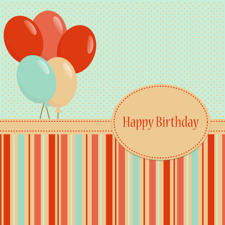 Colorful greeting Happy Birthday background Vector