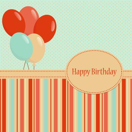Colorful greeting Happy Birthday background Illustration
