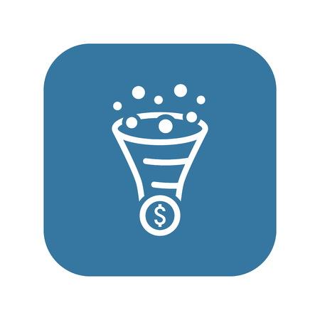 icona di ottimizzazione del commercio di conversione . Concetto di affari. design piatto. illustrazione isolato
