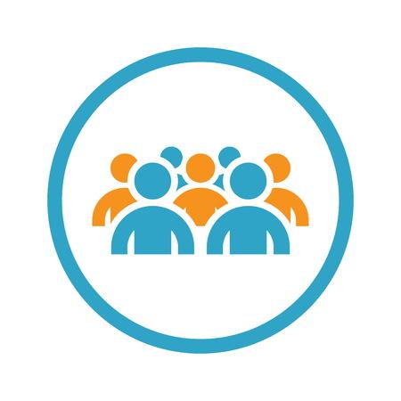 Gruppo di persone Icon. Concetto di affari. Design piatto.