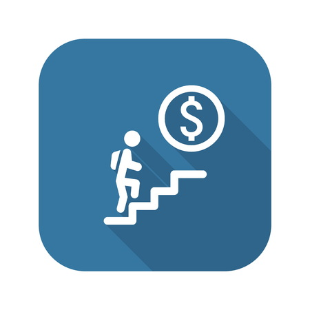 runing: Career Ladder Icon. Career Ladder Icon Concept. Career Ladder Icon with Shadow Illustration