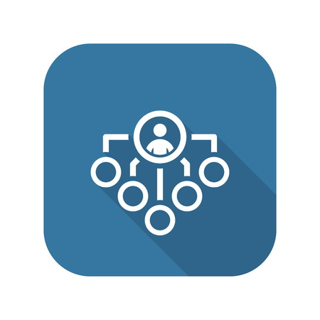 Current Tasks Icon. Business Concept. Flat Design. Isolated Illustration.