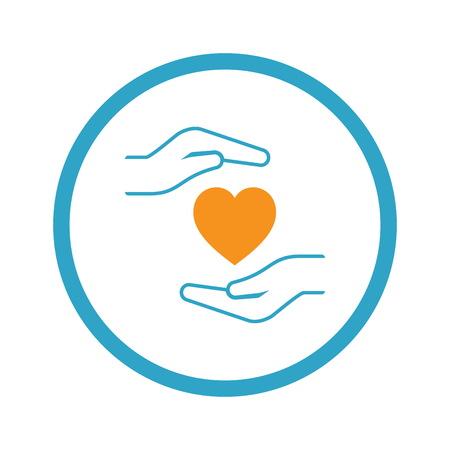 Heart Disease Prevention Icon. Flat Design. Illustration
