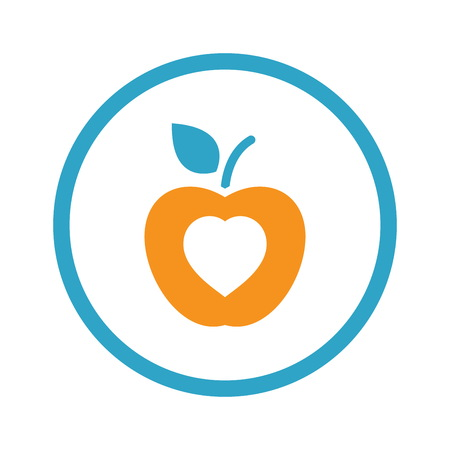 Healthy Eating Icon Flat Design. Illustration
