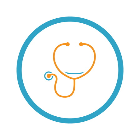 Stethoscope and Medical Services Icon.