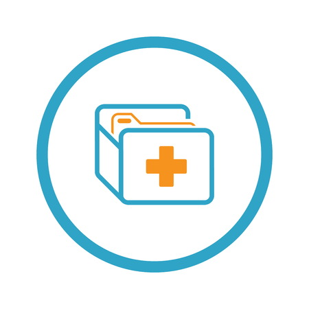 Medical Records Icon. Flat Design.