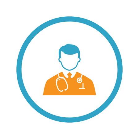 Doctor Icon. Flat Design.