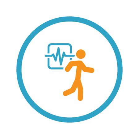 Cardio Workout and Medical Services Icon. Illustration
