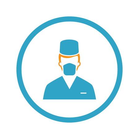 Surgeon Icon. Flat Design.