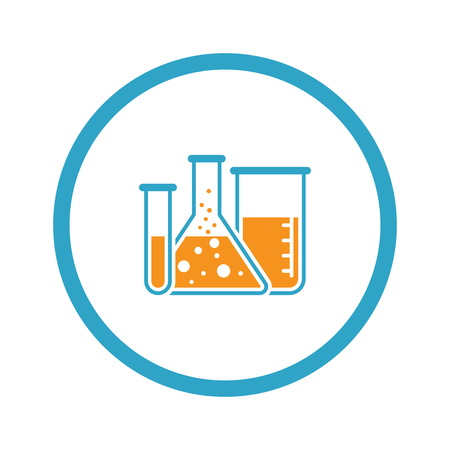 Laboratory and Medical Services Icon. Flat Design. Illustration
