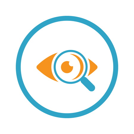 optician: Ophthalmology and Medical Services Icon. Flat Design.