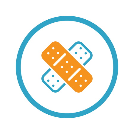 Band Aid and Medical Services Icon. Flat Design. Illustration