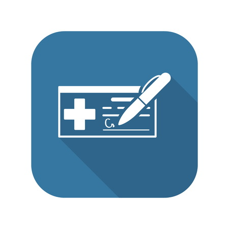 pen tablet: Medical Prescription and Services Icon.