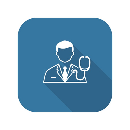 Doctor and Medical Services Icon. Flat Design.