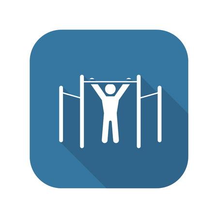 Workout Icon. Flat Design.