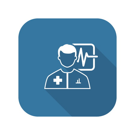Doctor Consultation and Medical Services Icon. Illustration