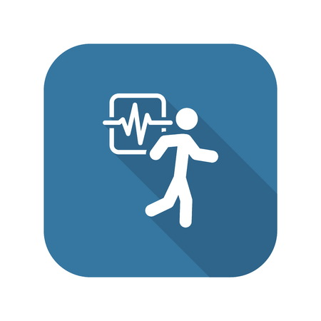 runing: Cardio Workout and Medical Services Icon. Illustration