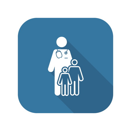 Child Care and Medical Services Icon. Flat Design. Illustration