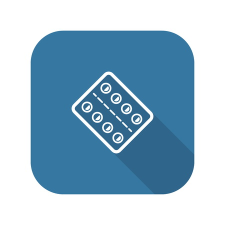 Medication and Medical Services Icon. Flat Design. Stock Illustratie