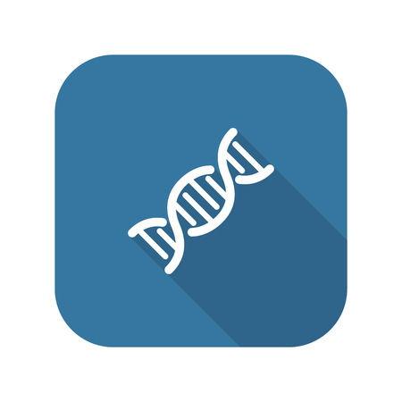 DNA and Medical Services Icon. Flat Design.