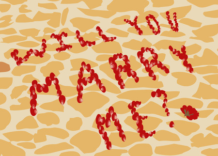 will you marry me: Proposal to marry on the background of street tiles. Text will You marry me of rose petals.